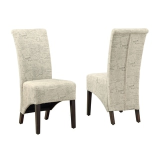 Parson Vintage French Fabric 40-inch Dining Chairs (Set of 2)