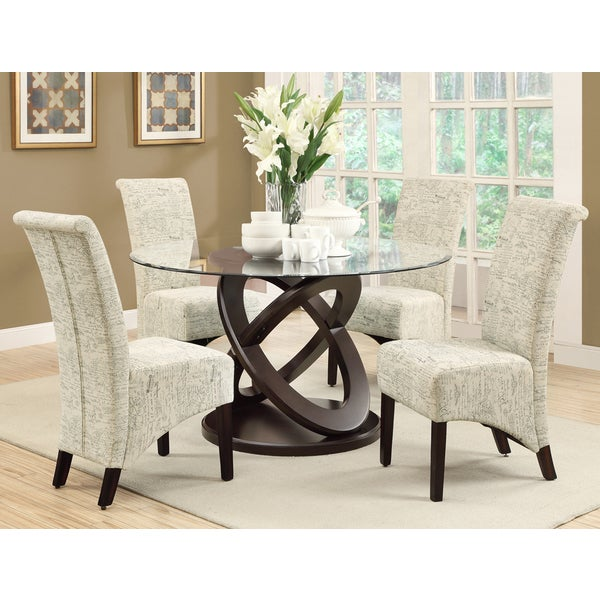 French Dining Room Set: Parson Vintage French Fabric 40-inch Dining Chairs (Set Of