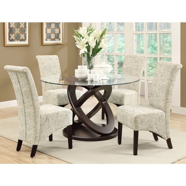 Parson Vintage French Fabric 40 Inch Dining Chairs (Se.