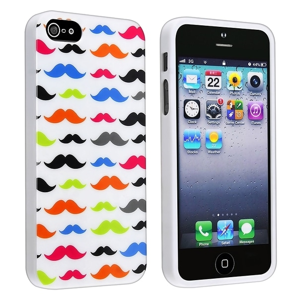 BasAcc Mustaches TPU Rubber Case for Apple® iPhone 5