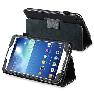 INSTEN Black Leather Tablet Case Cover with Stand for Samsung Galaxy Tab 3 8.0