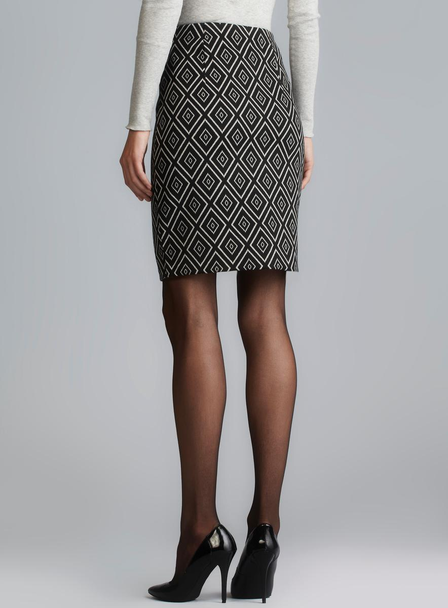 Grace Diamond Pattern Stretch Pencil Skirt - Free Shipping On ...
