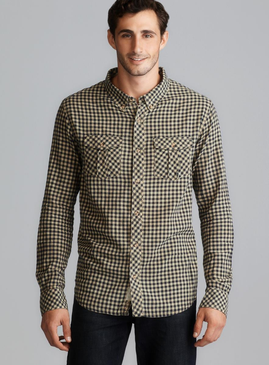 Nuco Long Sleeve Yarn Dyed Plaid Button Down Shirt
