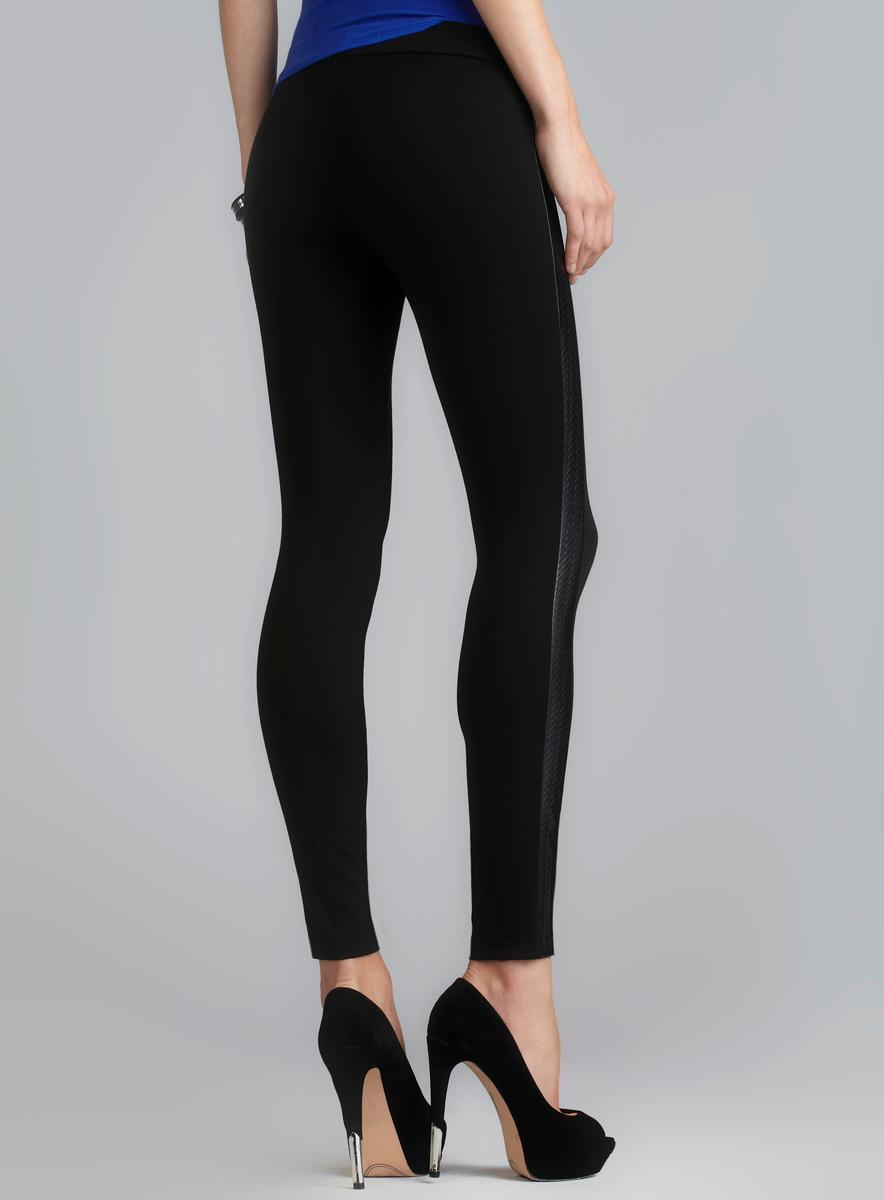 3cd40b05c5a076 ... Thumbnail Romeo & Juliet Couture Faux Leather Side Panel Stretch  Legging