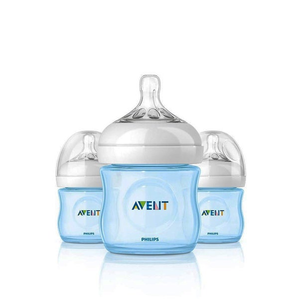 shop philips avent natural pp blue 4 ounce baby bottles pack of 3 free shipping on orders. Black Bedroom Furniture Sets. Home Design Ideas
