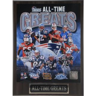 New England Patriots All Time Greats Plaque