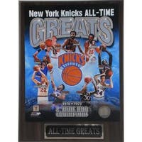 New York Knicks All Time Greats Plaque