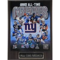 New York Giants All Time Greats Plaque