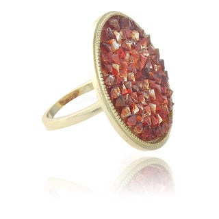 Crystal Ice Goldtone Ring Made with Swarovski Elements
