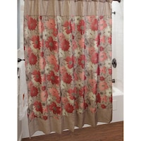 red and turquoise shower curtain. Sherry Kline Toulon Shower Curtain With Hook Set Greenland Home Fashions Coral Seashell Red  Free