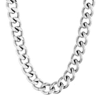 Crucible Stainless Steel Men's Curb Chain Necklace