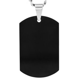 Stainless Steel Men's Dog Tag Necklace