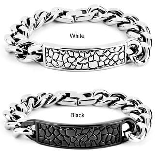 Crucible Men's Stainless Steel Reptile Texture ID Bracelet