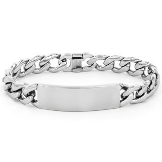 Stainless Steel Men's ID Link Bracelet