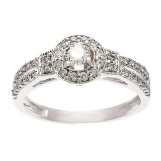 Sofia 10k White Gold 1/2ct TW Diamond Engagement Ring (H-I, I1-I2)