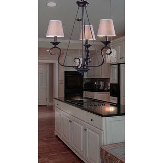 Kiel 3 Light Oil Rubbed Bronze Chandelier Free Shipping Today Overstock C
