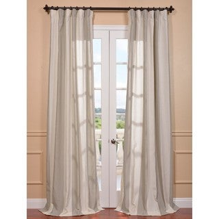 Exclusive Fabrics Del Mar Stone Linen Blend Curtain Panel