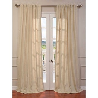 Exclusive Fabrics Hilo Natural Linen Blend Curtain Panel