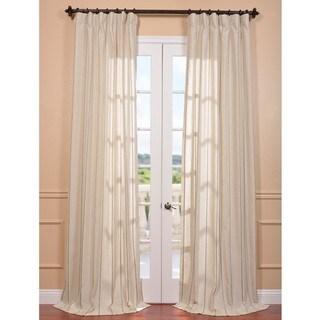 Exclusive Fabrics Trinidad Hemp Linen Blend Stripe Curtain Panel