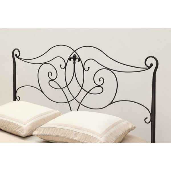Shop Satin Black Queen/ Full-Size Headboard/ Footboard - Free ...