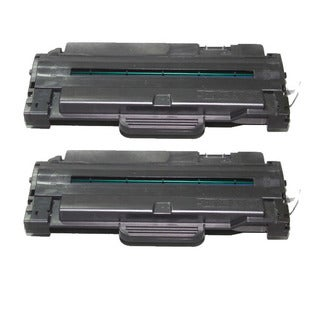 Samsung-compatible Black High Yield Laser Toner Cartridge (Pack of 2) MLT-D105L