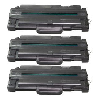 Samsung-compatible Black High Yield Laser Toner Cartridge (Pack of 3) MLT-D105L