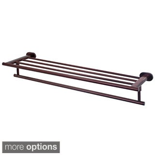 Ovando 24-inch Round Design Hotel Style Rack and Towel Bar