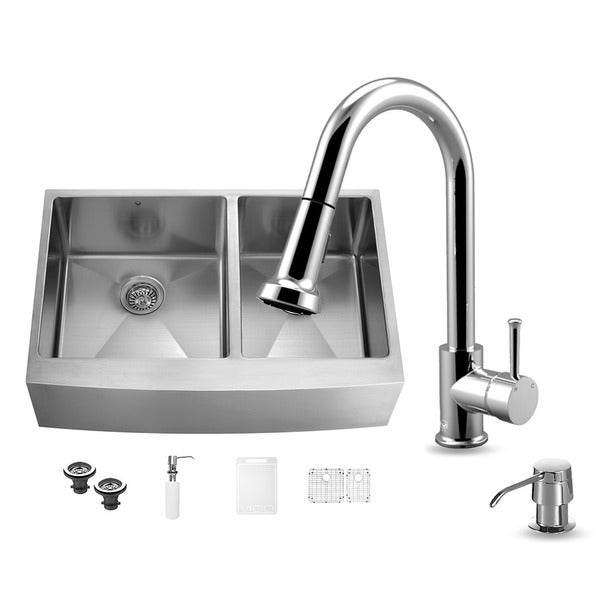 Overstock Stainless Kitchen Faucet