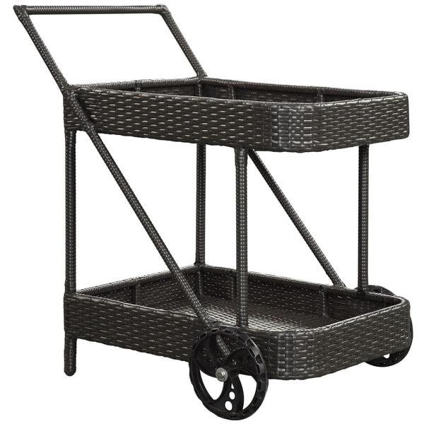 Replenish Outdoor Rattan Beverage Cart
