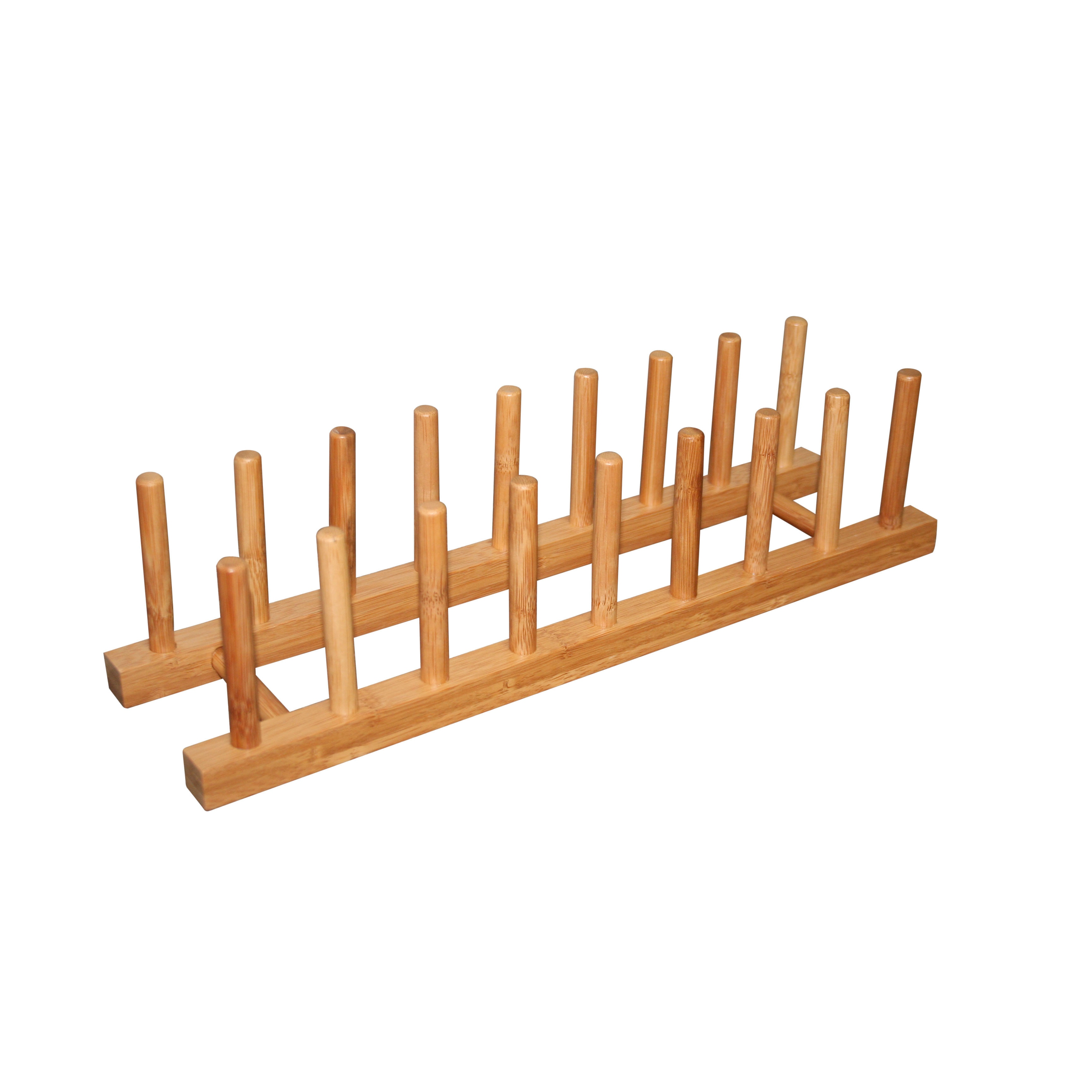 Bamboo (Green) Dish Rack for Plates and Pot Lids (Wood)