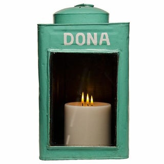 Light Green Metal Candle Holder