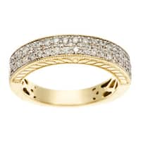 Sofia 14k Yellow Gold 1/2ct TDW Pave Diamond Band
