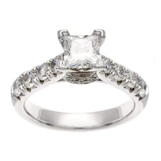 Sofia 14k White Gold 2ct TDW Certified Diamond Engagement Ring (H-I, I1)