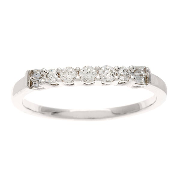 Sofia 14k White Gold 1/4ct TDW Diamond Wedding Band (H-I, I1-I2)