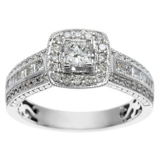 Sofia 14k White Gold 1ct TDW Certified Diamond Engagement Ring (H-I, I1-I2)