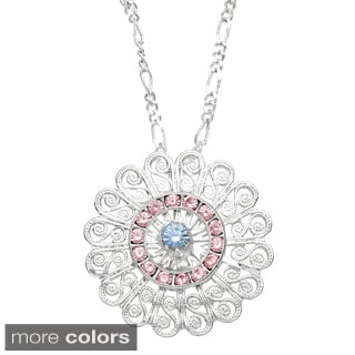 Detti Originals Filigree and Multi-colored Crystal Necklace