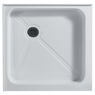 Vigo 36-Inch x 36-Inch White Square Shower Tray