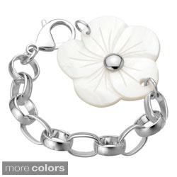 Stainless Steel Shell Flower 8-inch Bracelet