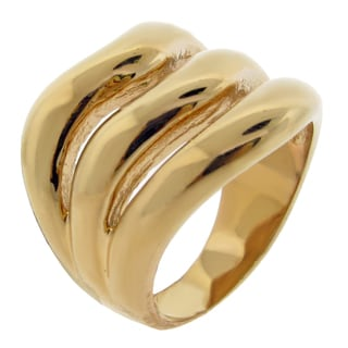 Gold Ion-plated Stainless Steel Open Row Ring