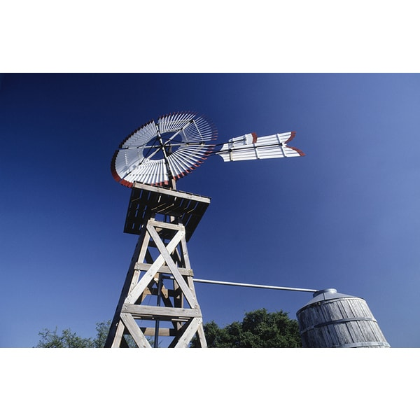 'Weather Vane and Water Tank, San Antonio, Texas' Canvas Print