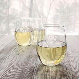 Snowflake Stemless Wine Glasses