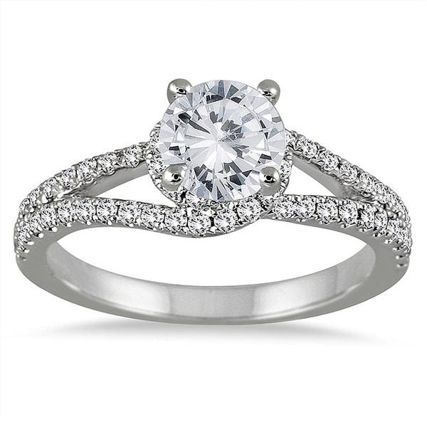 Marquee Jewels 14k White Gold 1 1/10ct TDW Diamond Engagement Ring (I-J, I2-I3)