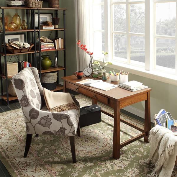 INSPIRE Q Granville Warm Walnut 1-drawer Writing Desk