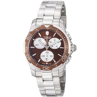 Swiss Army Women's 241502 'Alliance Sport' Brown Dial Stainless Steel Watch