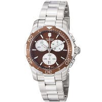 Swiss Army Women's  'Alliance Sport' Brown Dial Stainless Steel Watch