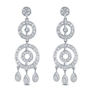 Auriya 14k White Gold 1 1/2ct TDW Diamond Chandelier Earrings