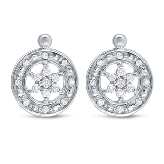 Auriya 14k White Gold 1/4ct TDW Diamond Dangle Earrings
