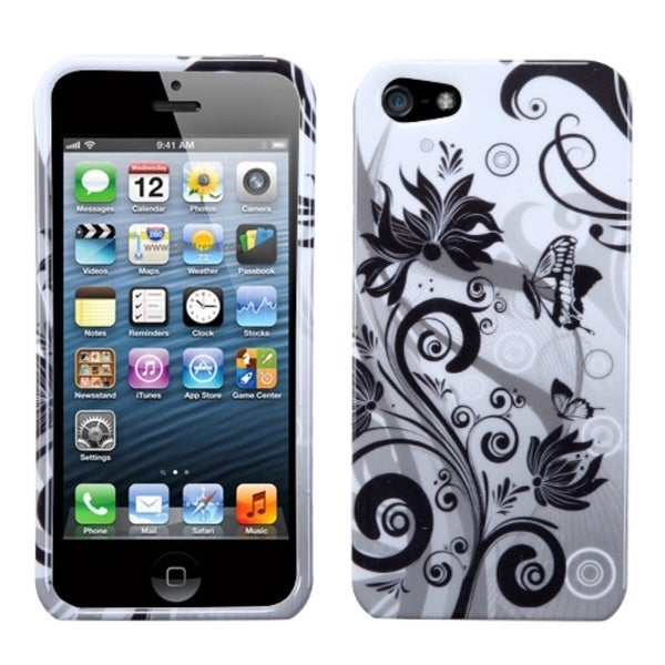 INSTEN Butterfly Monochrome Phone Case Cover for Apple iPhone 5