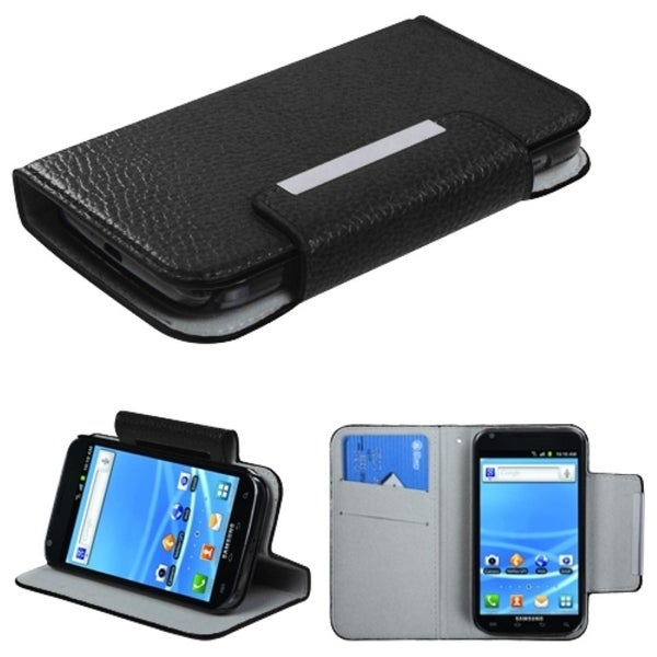 INSTEN Black Wallet Phone Case Cover 739 for Samsung T989 Galaxy S II