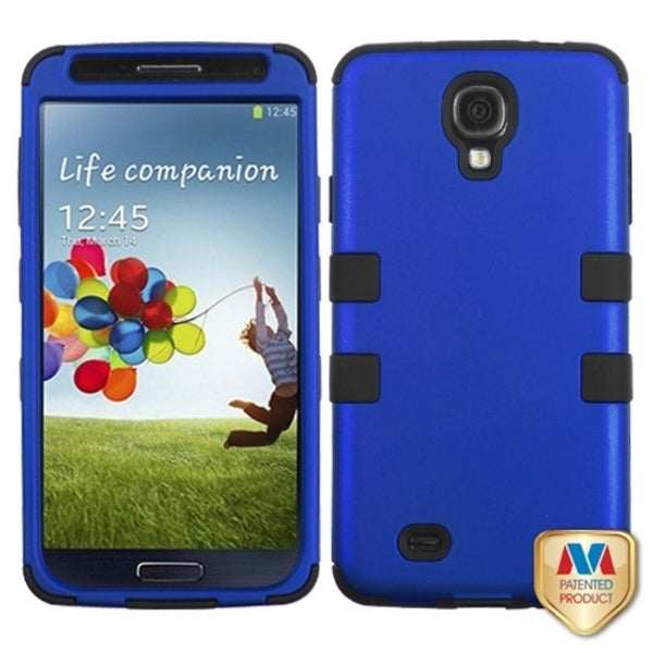 INSTEN Dark Blue/ Black TUFF Hybrid Phone Case Cover for Samsung Galaxy S4/ S IV